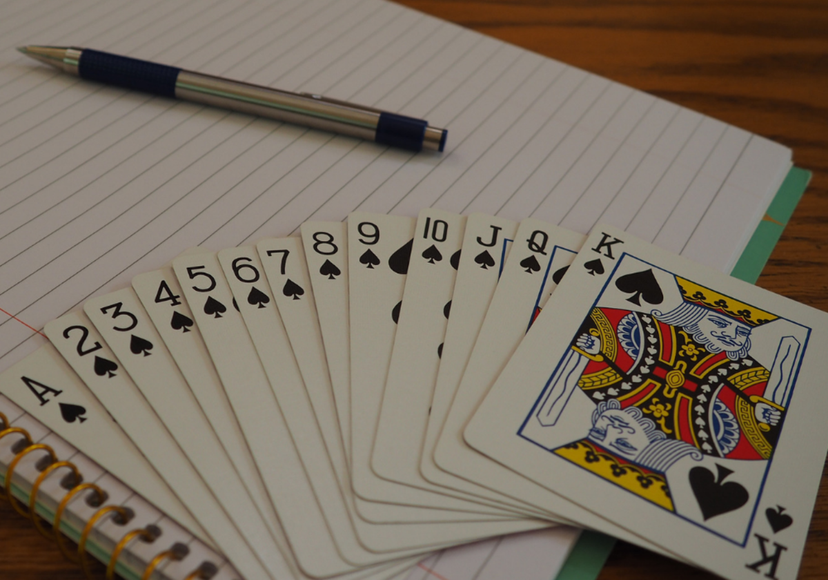 Spades—like swords in a tarot deck—are connected to all aspects of thinking and communicating.