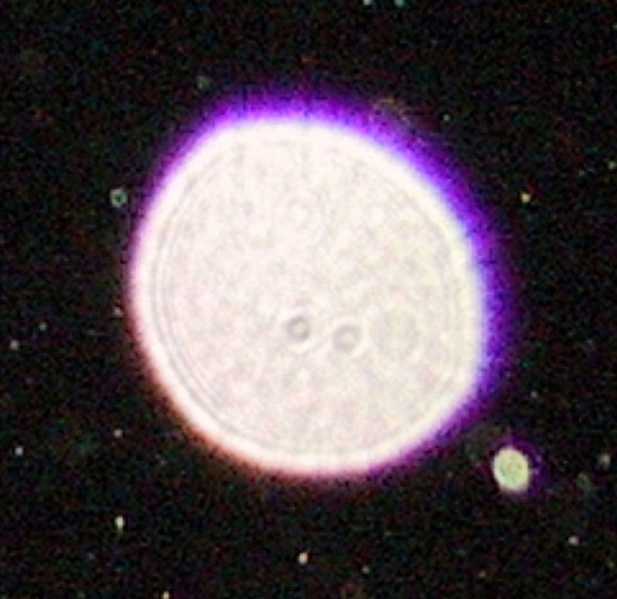 A close up shot of a purple orb.