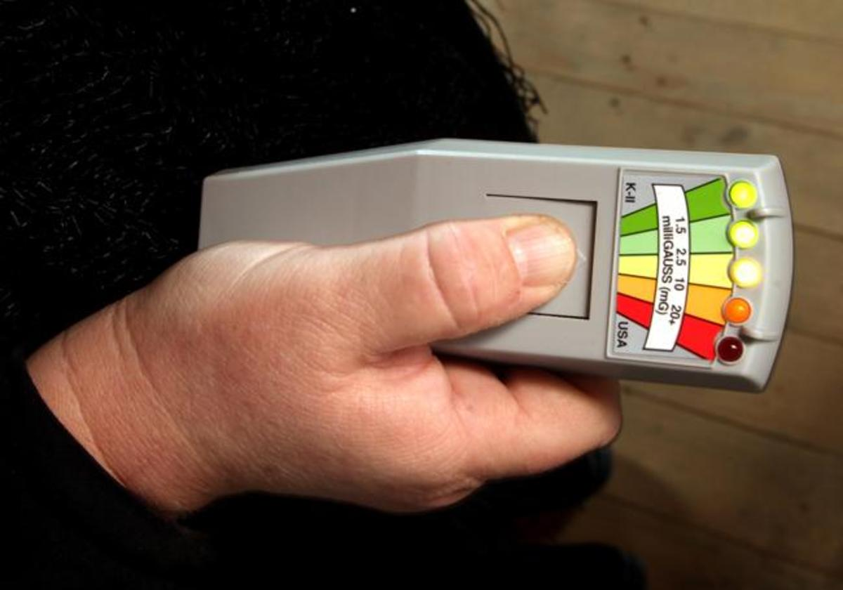 """A ghost hunting """"EMF"""" Meter for detecting changes in electromagnetic fields due to paranormal activity."""