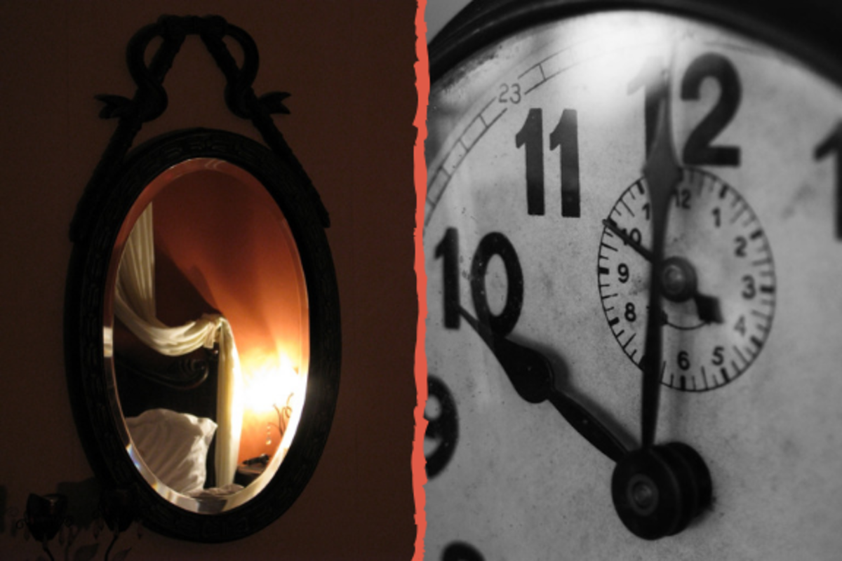 Would you cover a mirror or stop a clock?