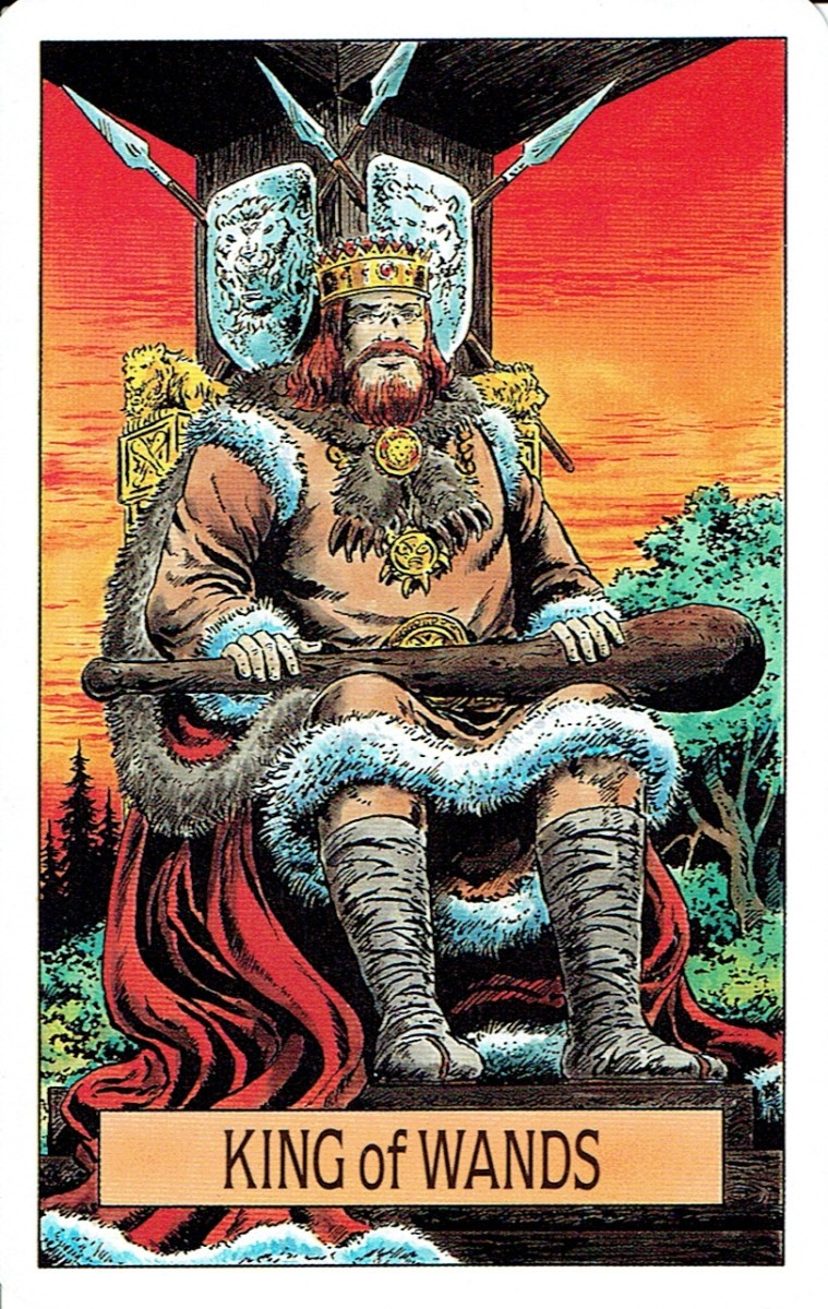 King of Wands from the Arcus Arcanum Tarot