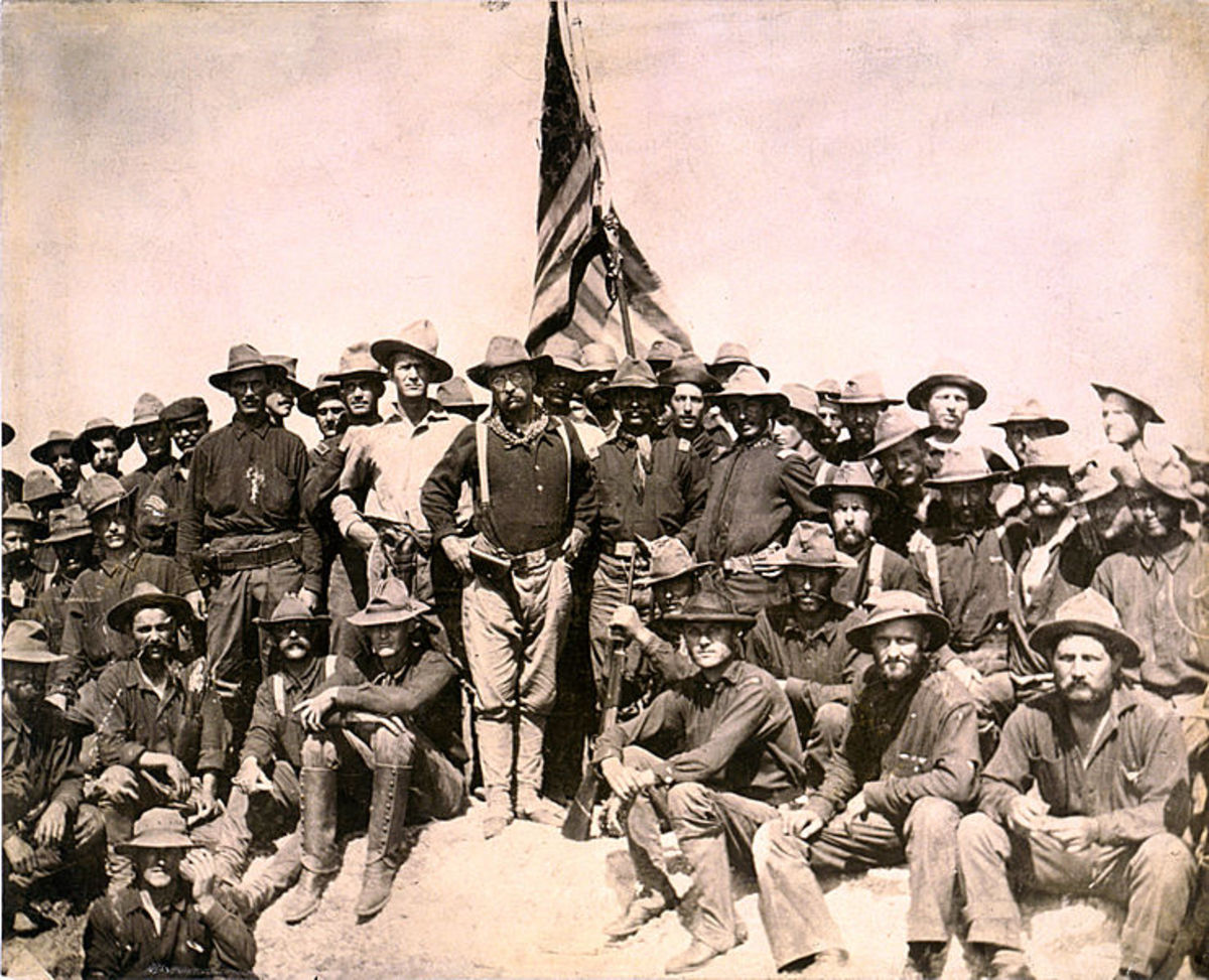 Colonel Roosevelt and the Rough Riders, atop San Juan Hill