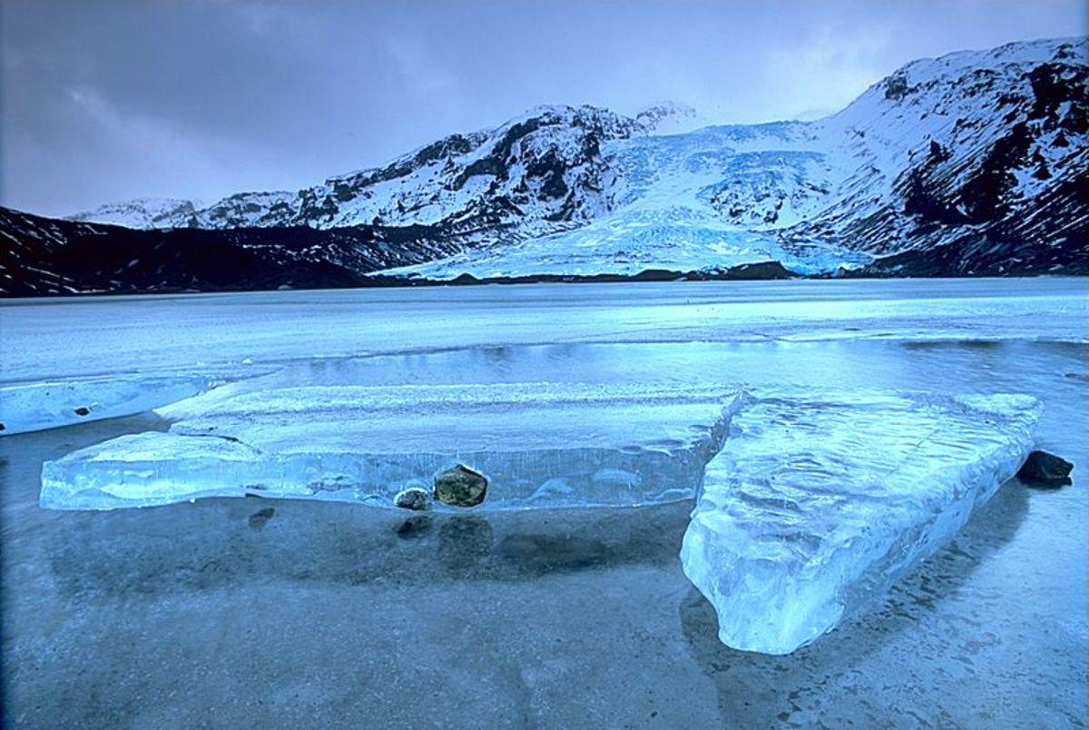 Gígjökull, an outlet glacier extending from Eyjafjallajökull, Iceland.