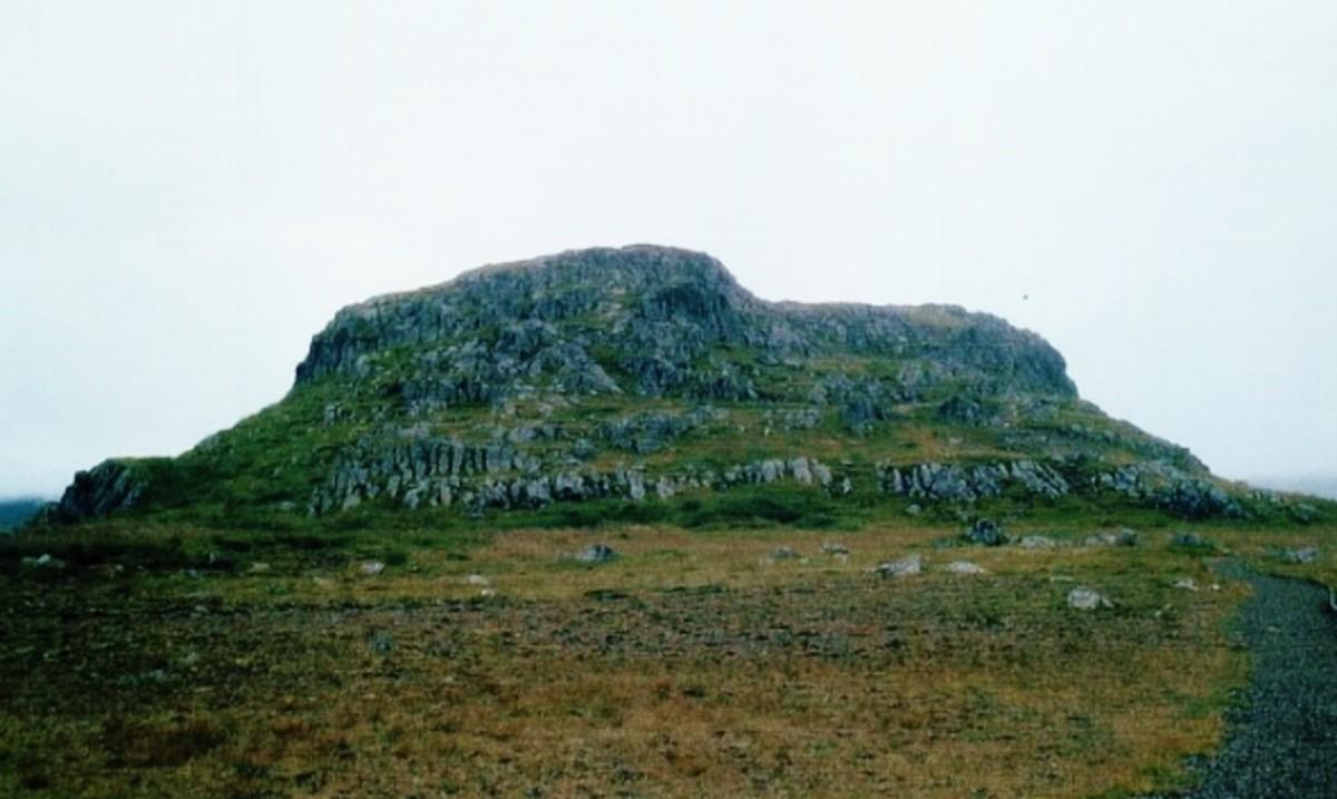 Álfaborg, the castle of the fairies near Borgarfjörður.