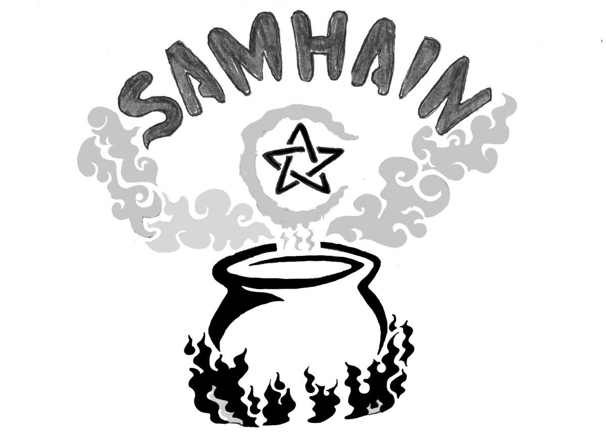 Stencil for Samhain pumpkin
