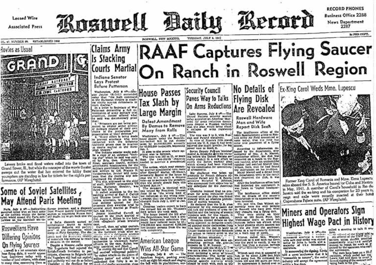 Newspapers reported a crashed UFO at Roswell and the place has never been the same.