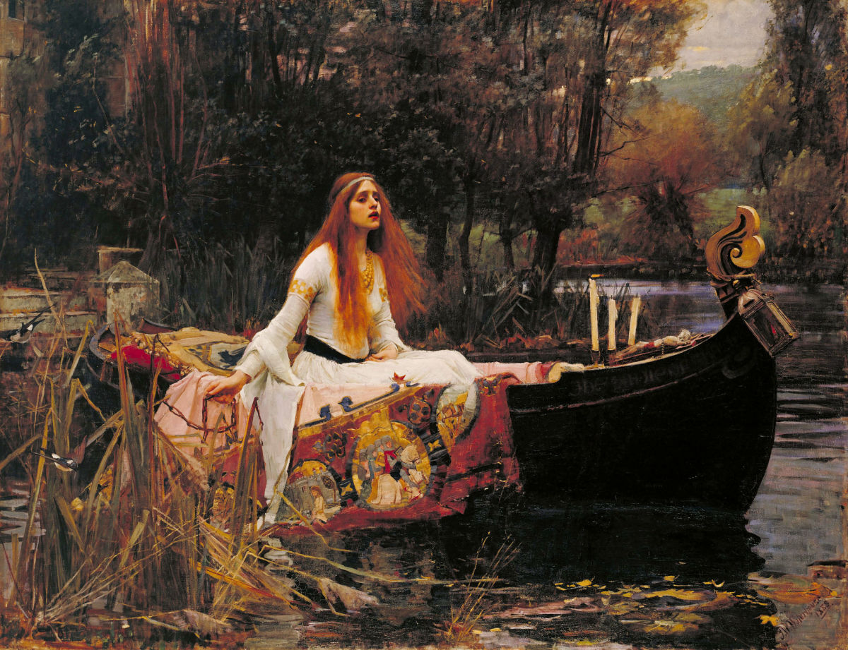 The Lady of Shalott (1888) by J. W. Waterhouse