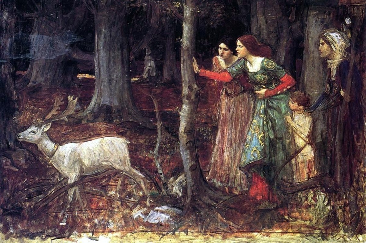 The Mystic Wood (Date Unknown) by J. W. Waterhouse