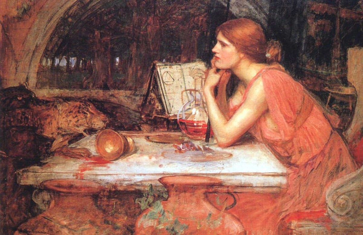The Sorceress (1913) by J. W. Waterhouse