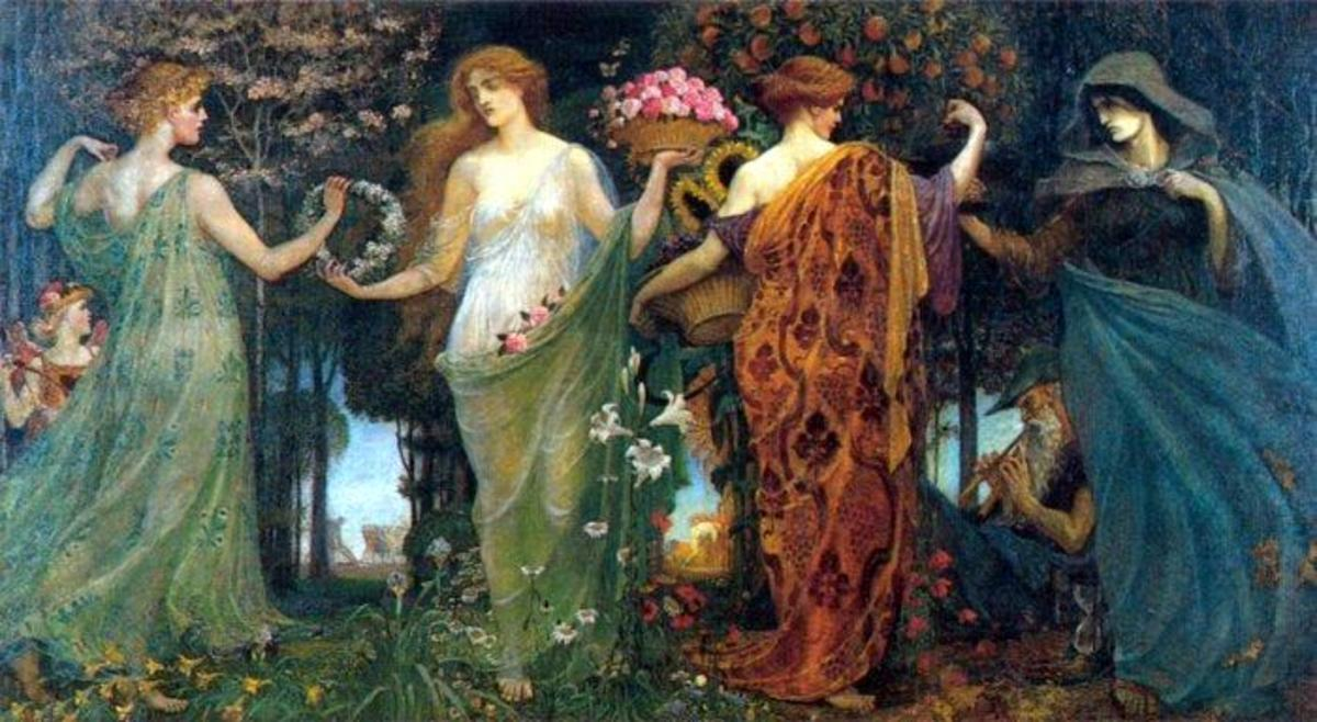 The Masque of the Four Seasons by Walter Crane