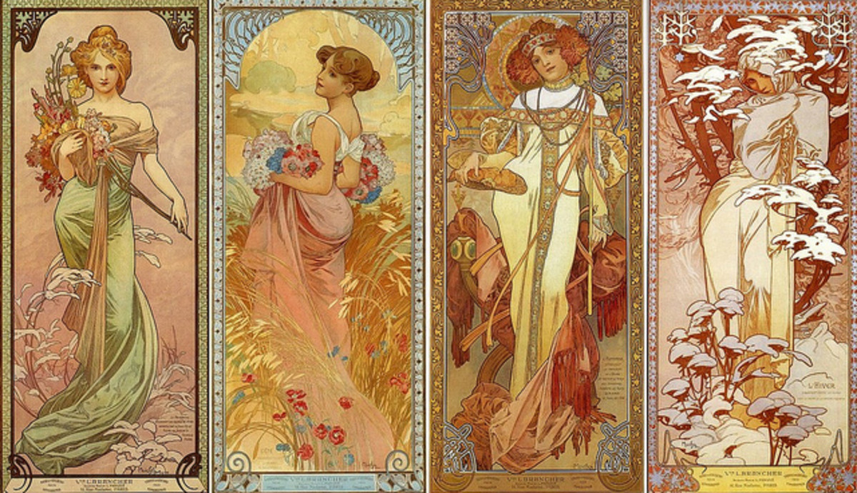 Goddesses by Alphonse Mucha