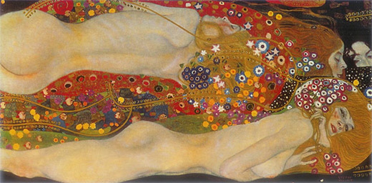 """Water Serpents"" by Gustav Klimt"