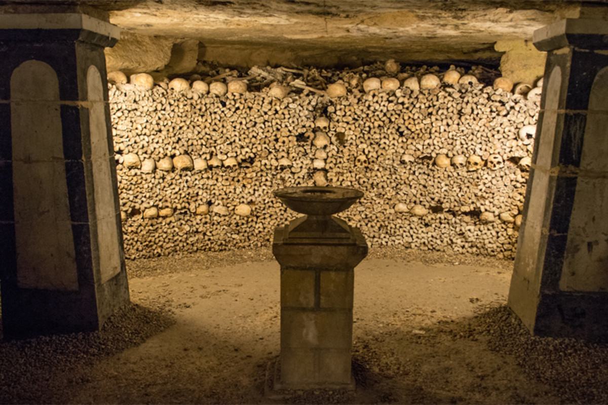 A dark labyrinth beneath the streets of Paris, containing tunnels stuffed with the skulls of unburied Parisians.