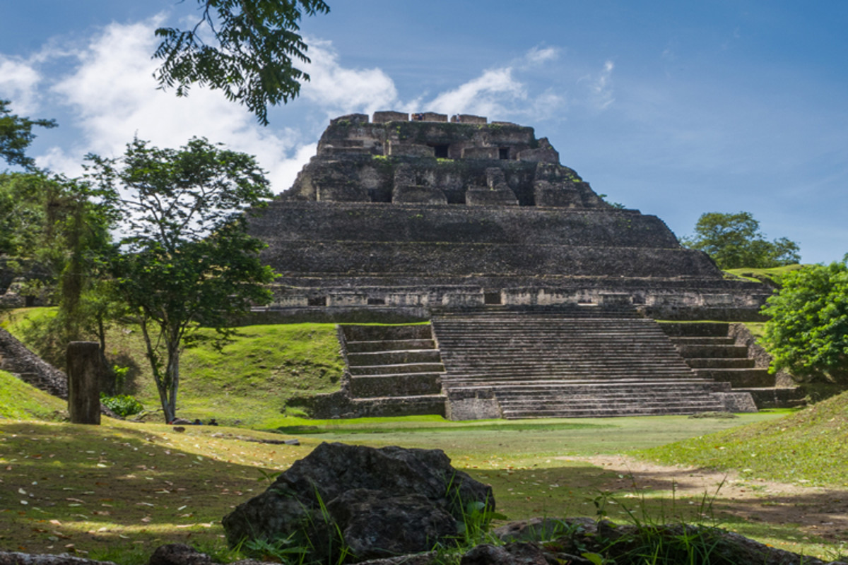 Haunted Mayan ruins deep in the forests of Belize, where a white-robed specter has frequently been sighted.