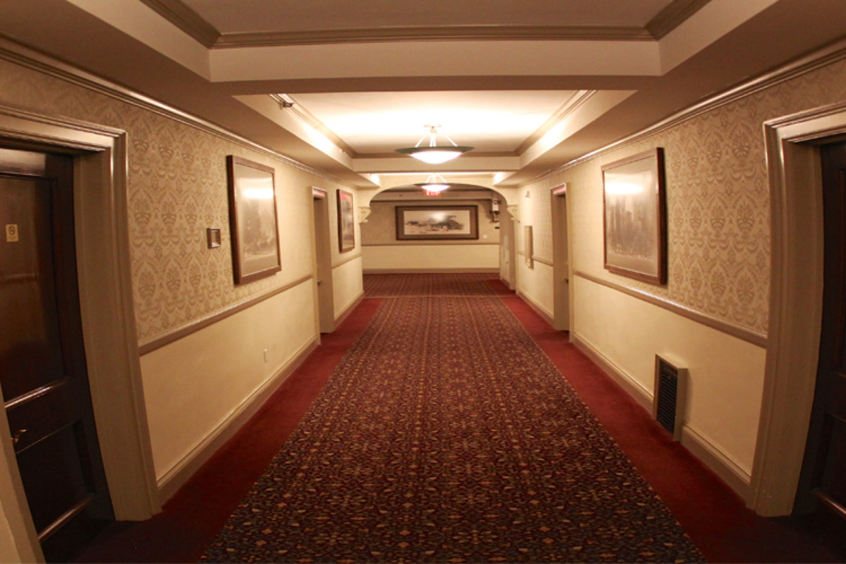 The hallways of Stanley Hotel, which were silent and empty on the night Stephen King occupied the establishment.
