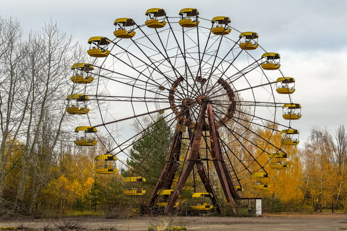 An abandoned playground in Pripyat.