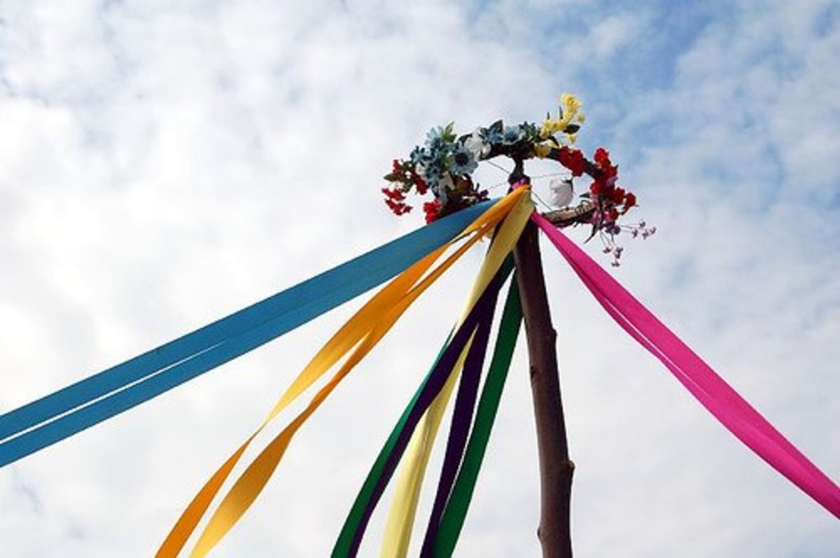 The Maypole at Beltane, the Wiccan Sabbat, is a giant phallic symbol. The wreath and the Earth it's plunged into are yonic symbols. Beltane is one of our 3 annual fertility festivals.