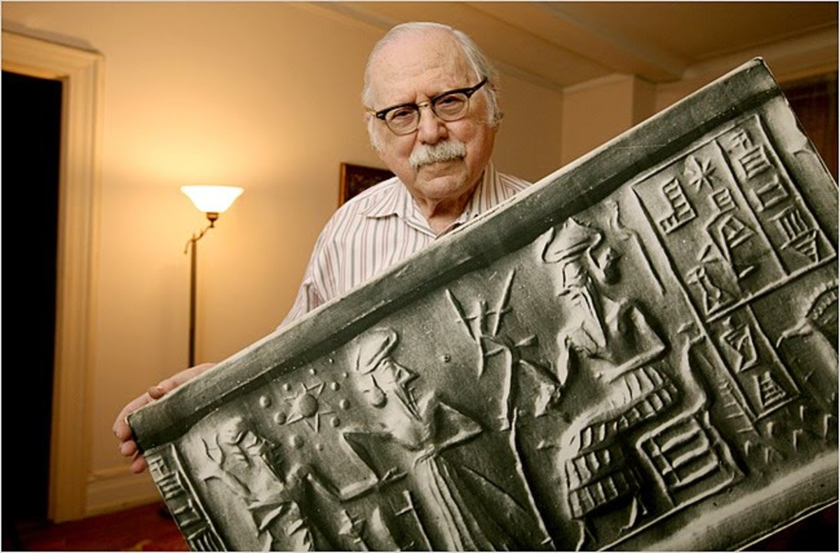 """Zecharia Sitchin (1920–2010) was an Azerbaijani-born American author of books proposing an explanation for human origins involving ancient astronauts."" —Wikipedia"