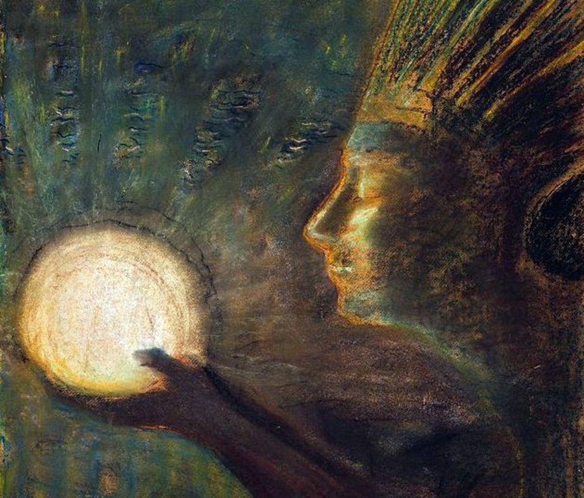 """Friendship"" by Mikalojus Konstantinas Ciurlionis, 1906"