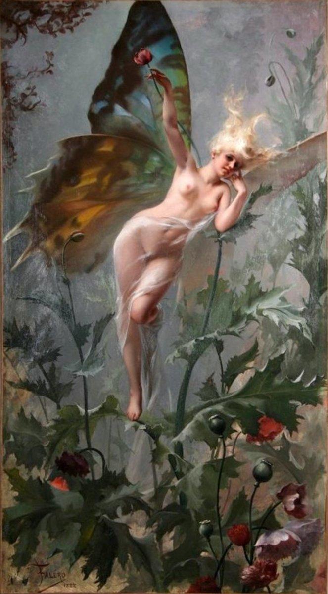 """Femme Papillon,"" by Luis Ricardo Falero 1888"
