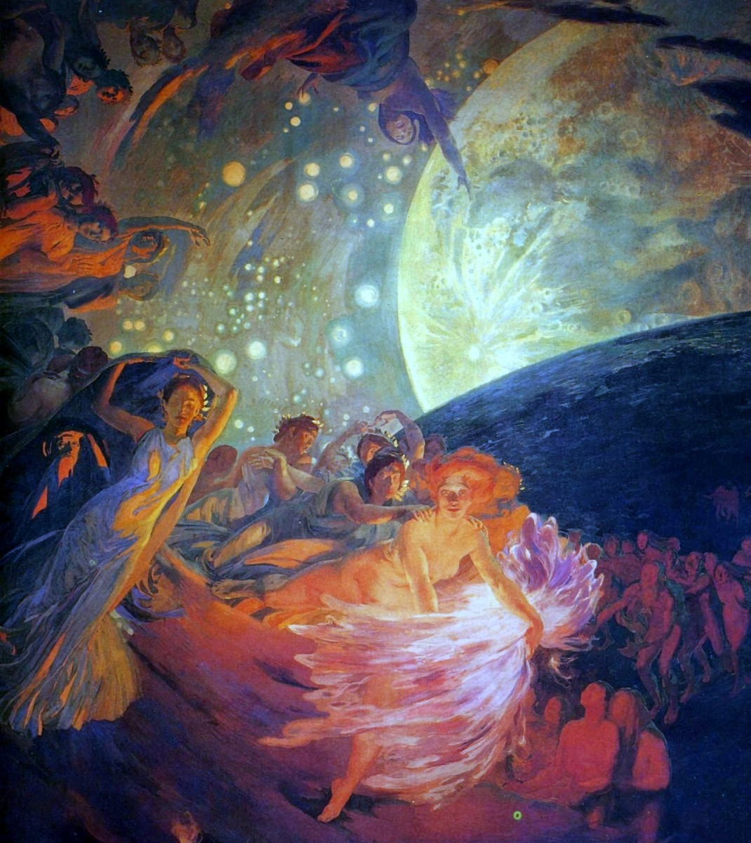 """""""Decoration for a Ceiling"""" by Paul Albert Besnard"""