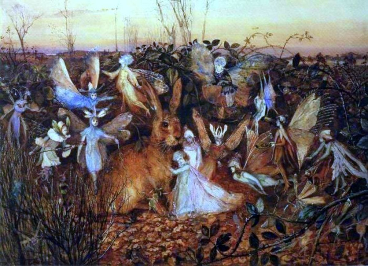 """Rabbit Among the Fairies"" by John Anster Fitzgerald"