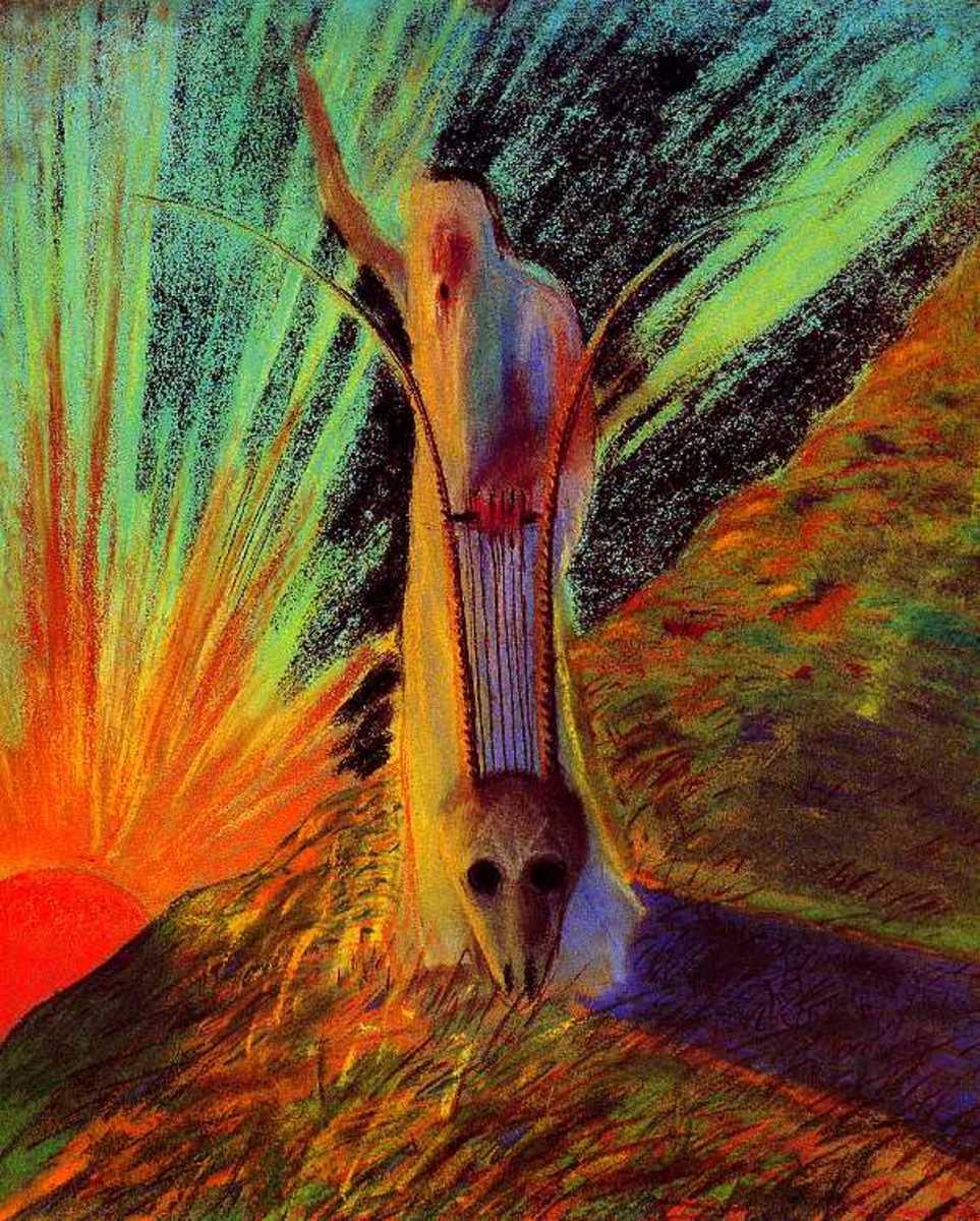 Morning Fantasy by Mikalojus Konstantinas Ciurlionis, 1904