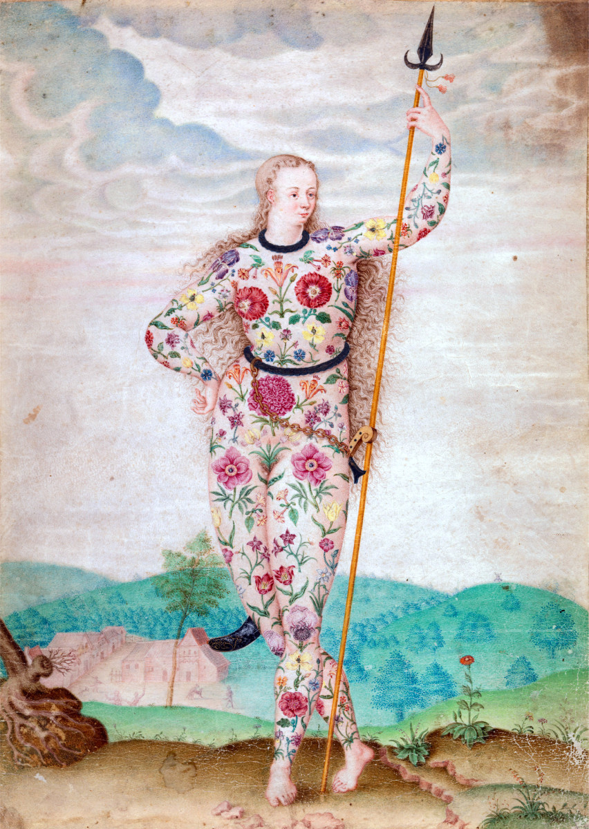 """A Young Daughter of the Picts"" by Jacques Le Moyne de Morgues"