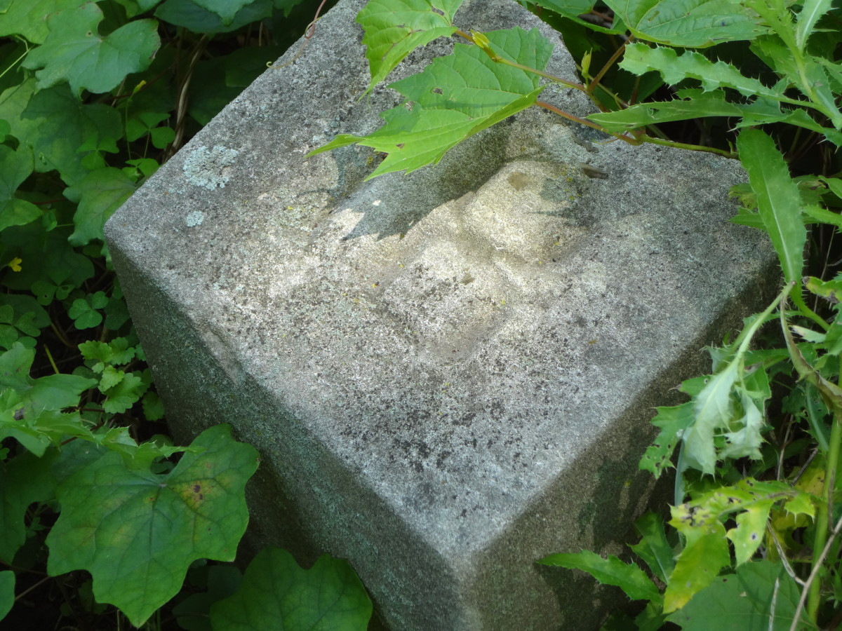 One of the grave markers