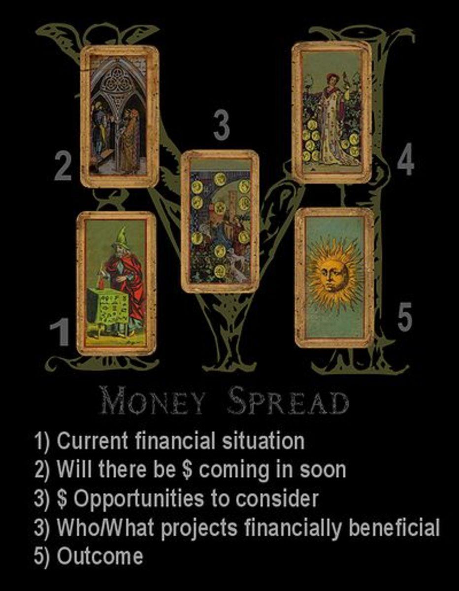 Money card spread.