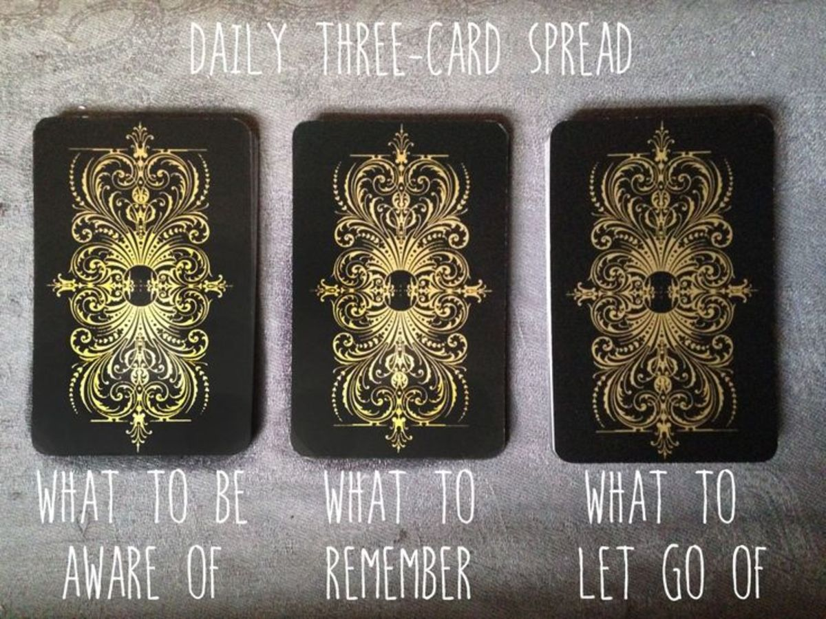 This is another example of a three card spread that you can do at the beginning of your day.