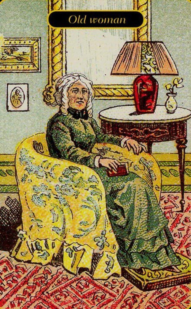 Old Woman Tarot Card