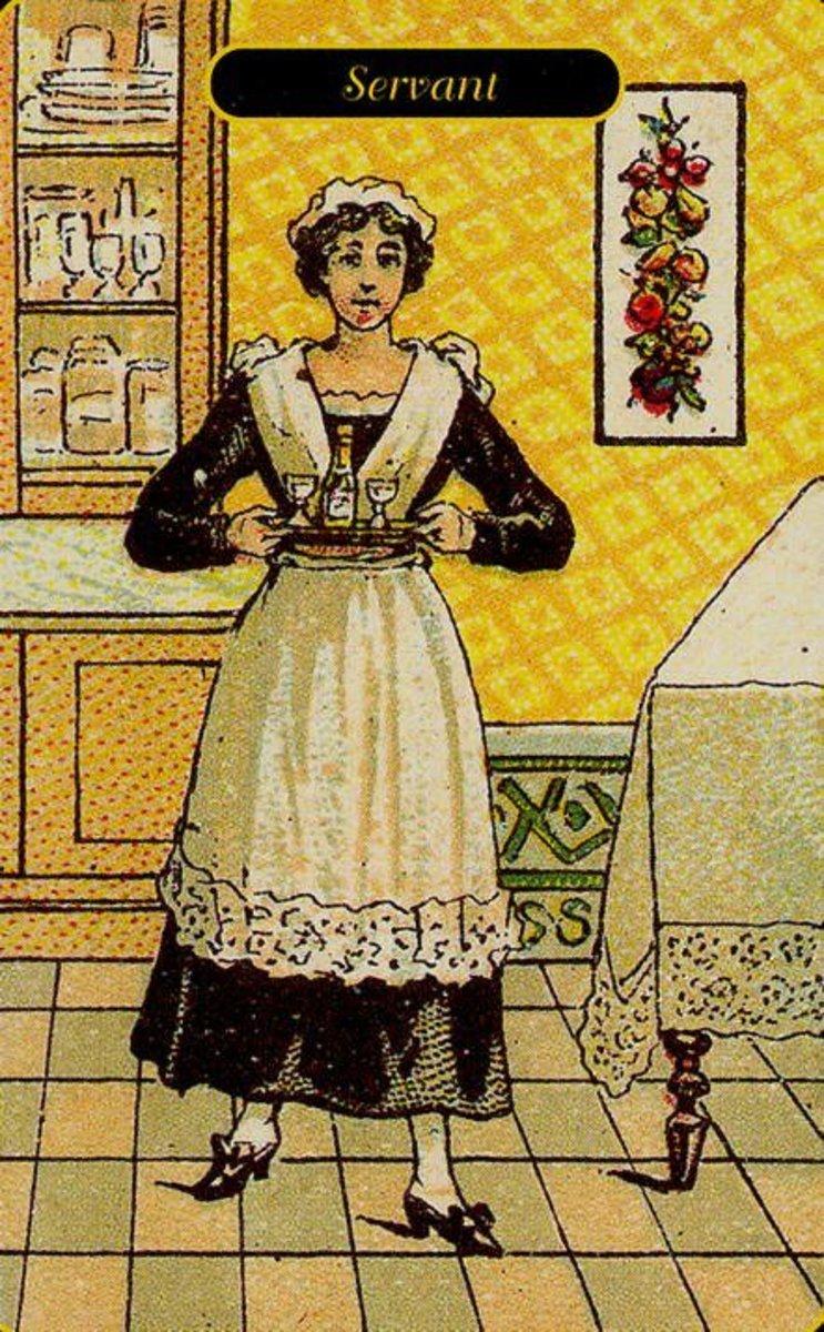 Servant tarot card