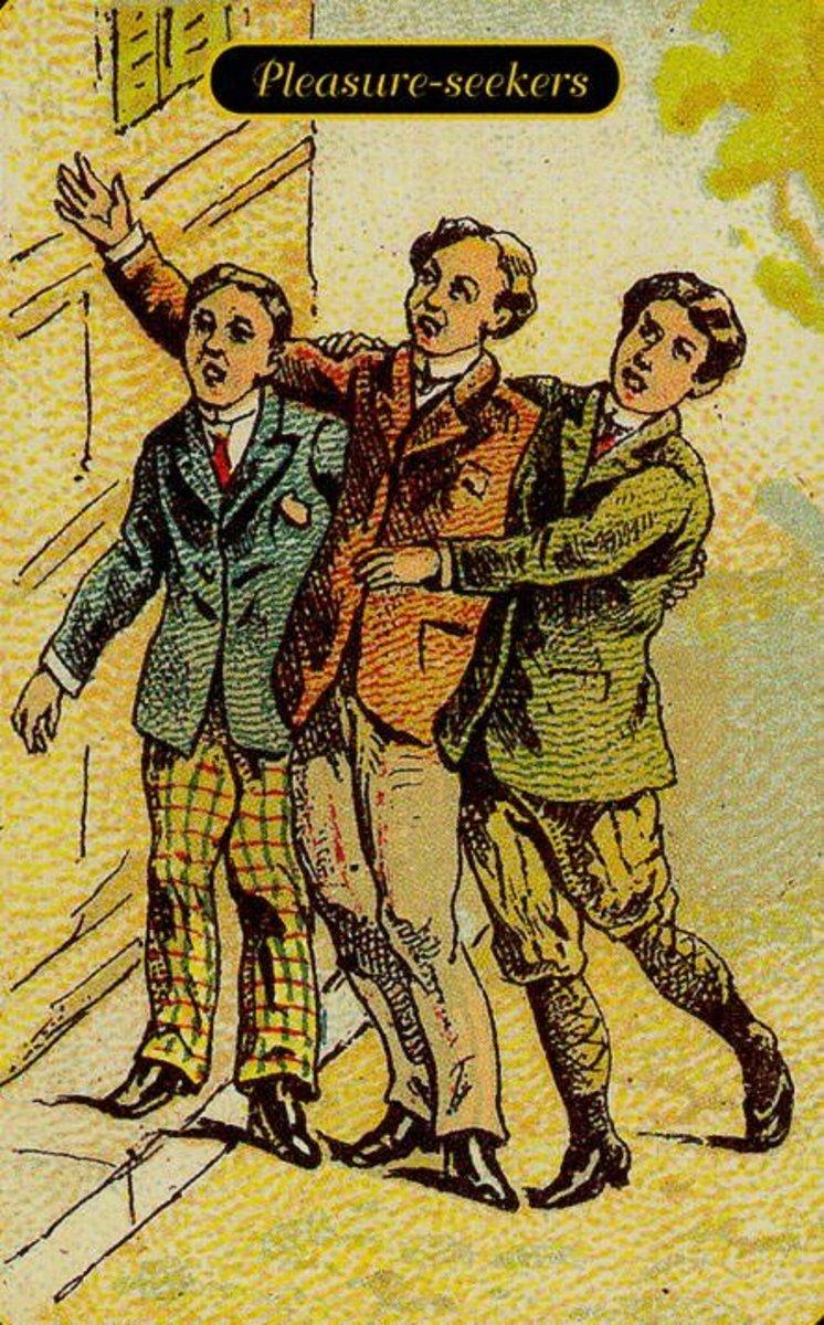Pleasure Seekers or Desire Tarot Card