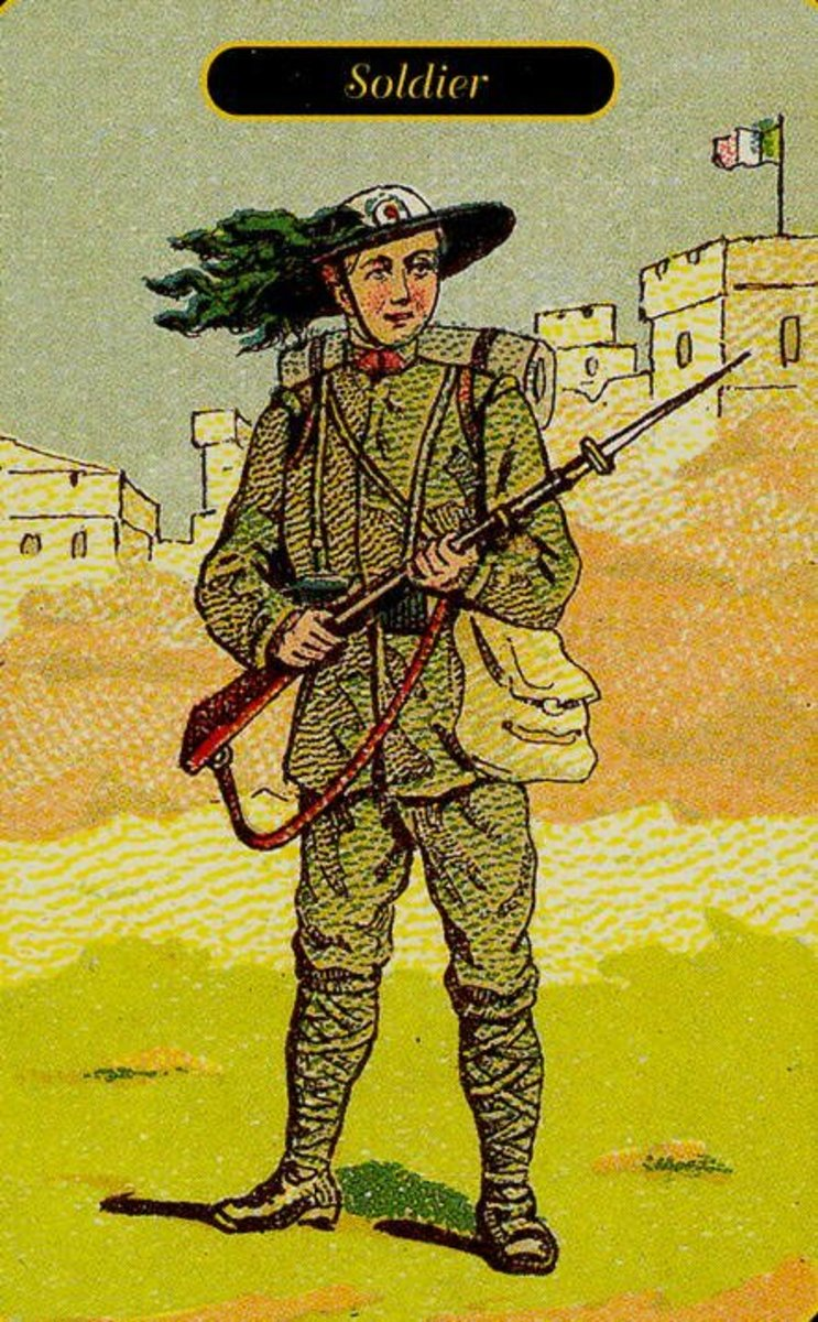Soldier or Officer Tarot Card