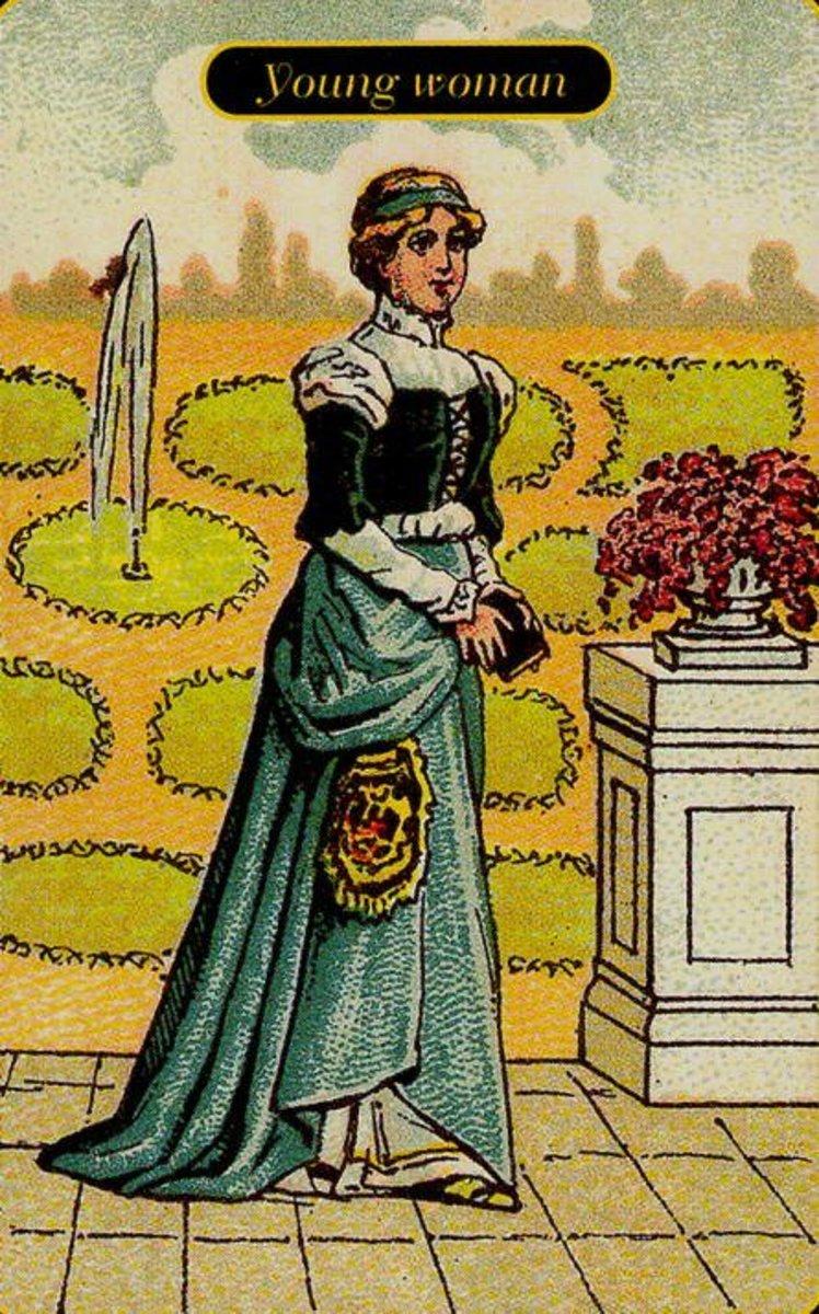 Young Woman Tarot Card
