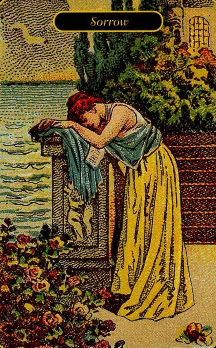 Sorrow or Loss Tarot Card