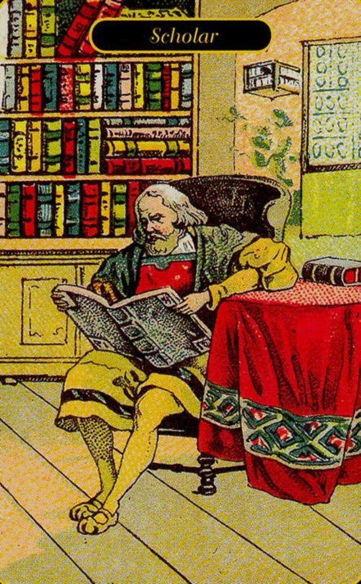 Scholar or Old Man Tarot Card