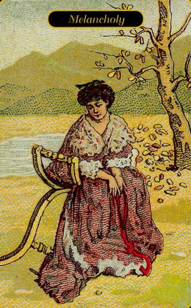 Melancholy or Sadness Tarot Card