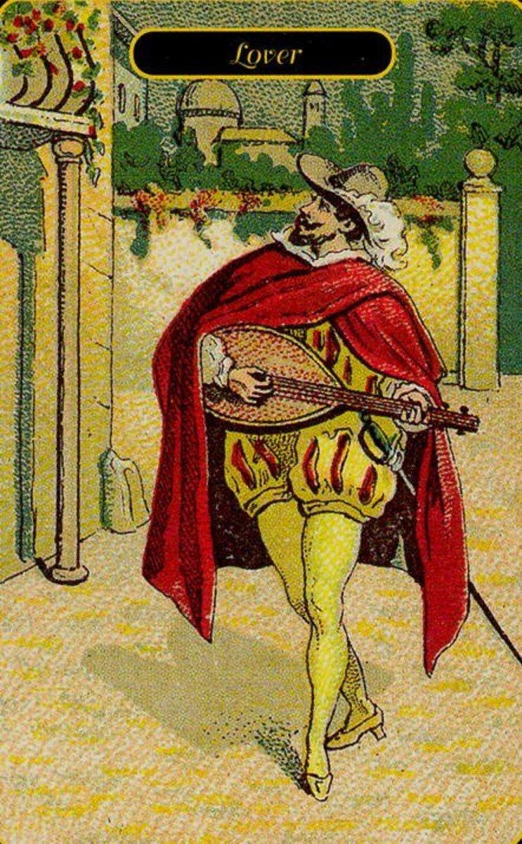 Lover tarot card