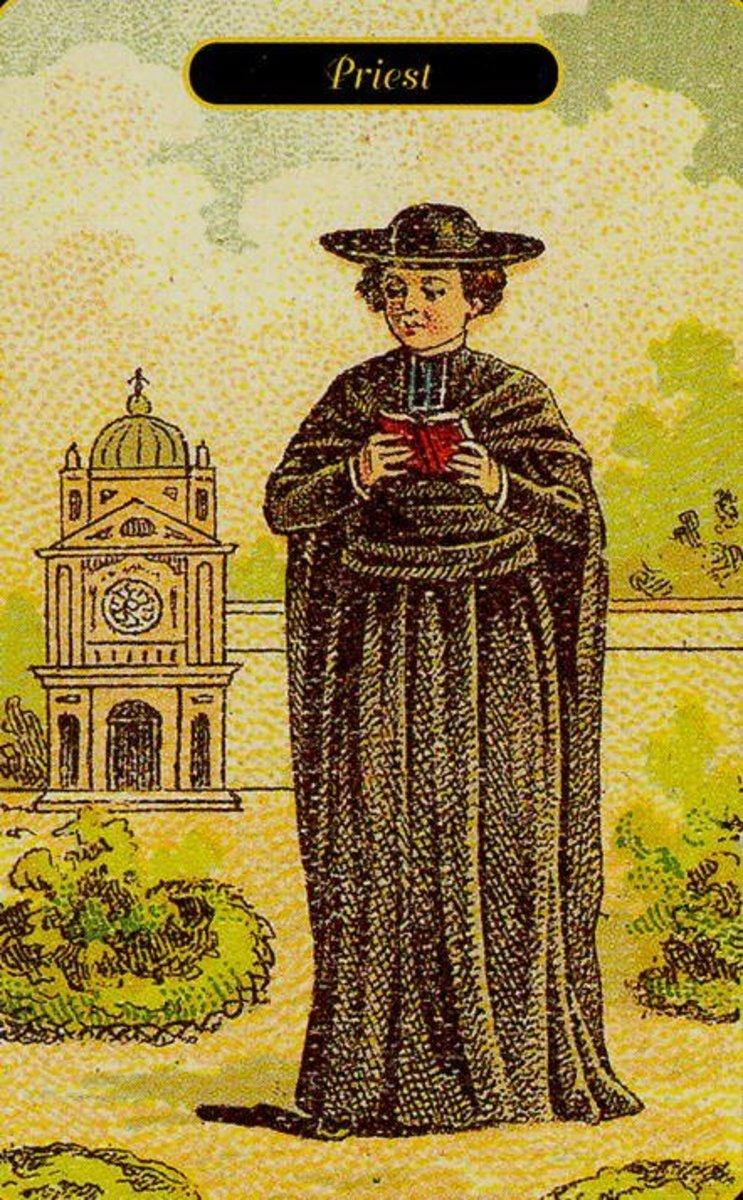 Priest or Ecclesiastic Tarot Card