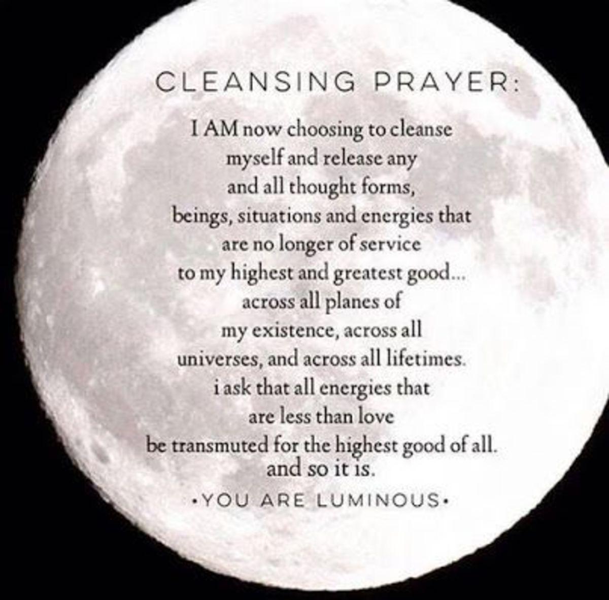 Full Moon Cleansing Prayer