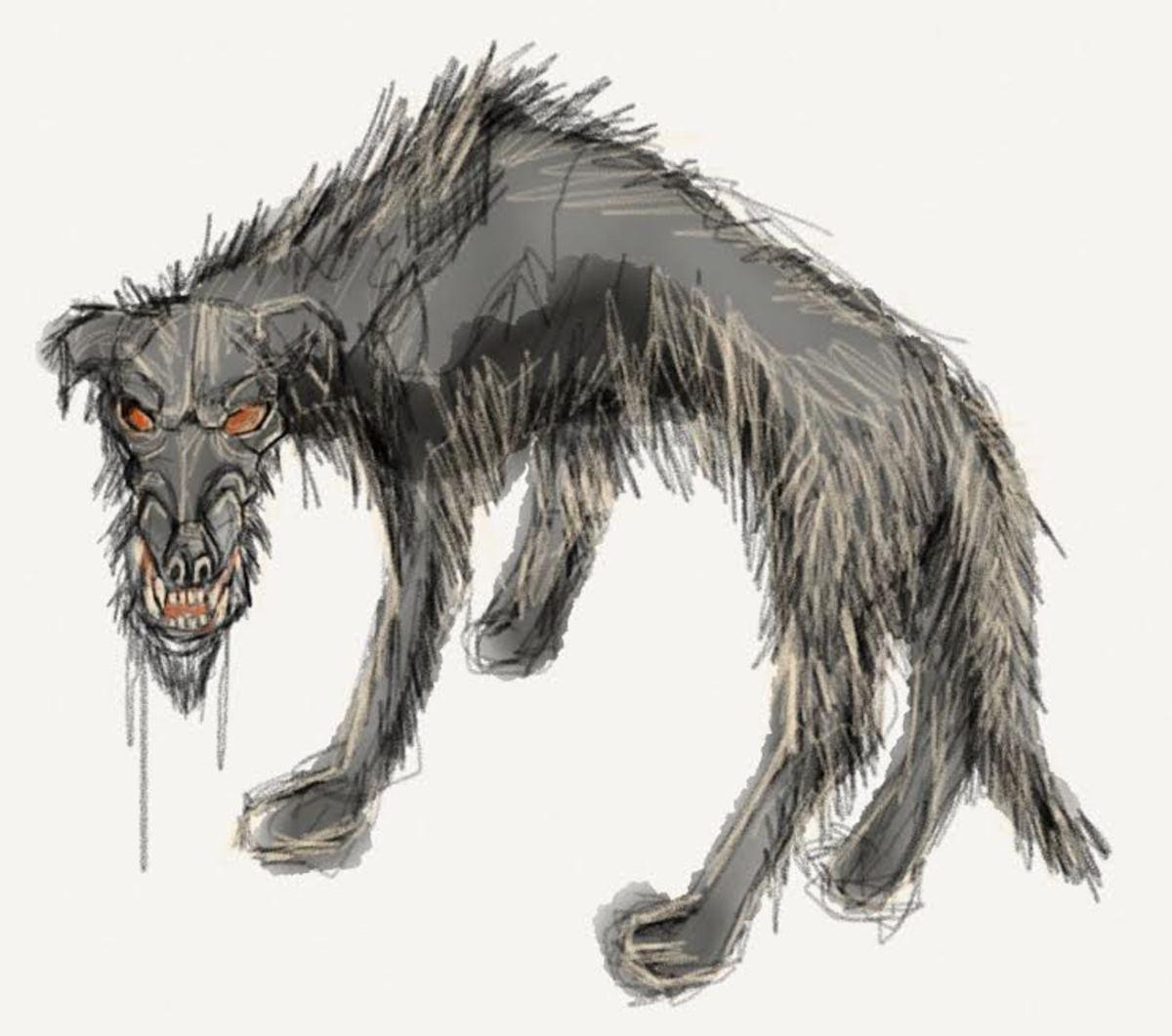 Black dog by Vasilios Markousis. Used with permission.