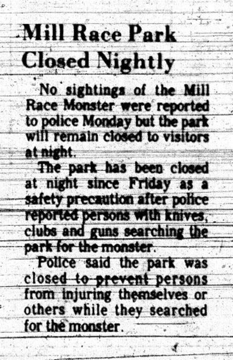 A report about the park's nightly closure.