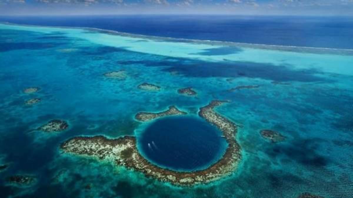 A blue hole.