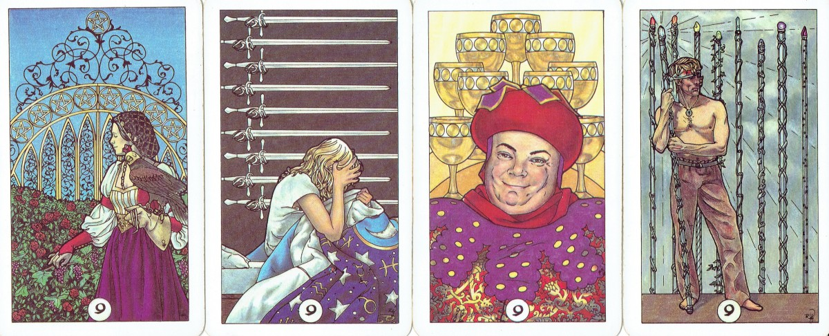 Nines in tarot; related to the Hermit Key 9