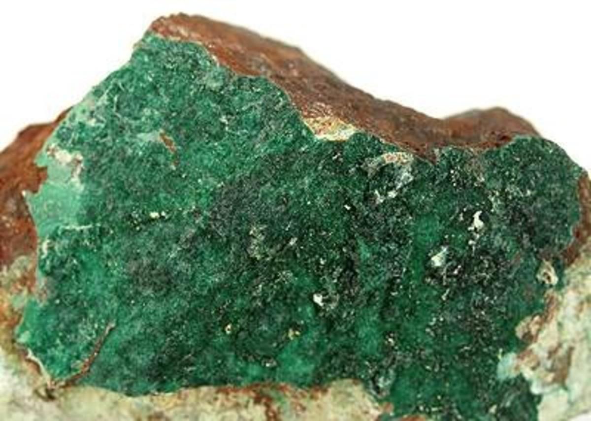 Gaspeite is a rare copper containing stone.