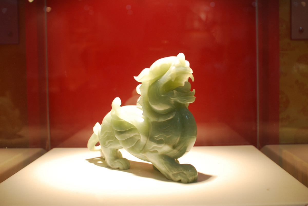 Jade is often carved into intricate statues.