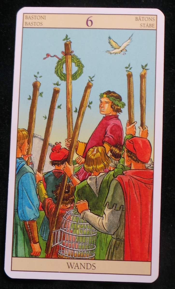 How to interpret the six of wands in a one-card tarot reading.