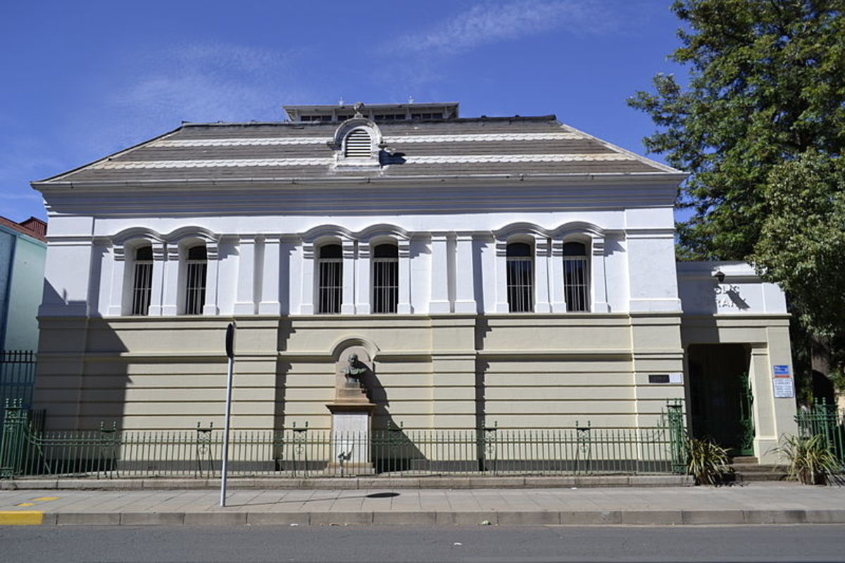 The old library is still in use and is a protected cultural heritage monument.